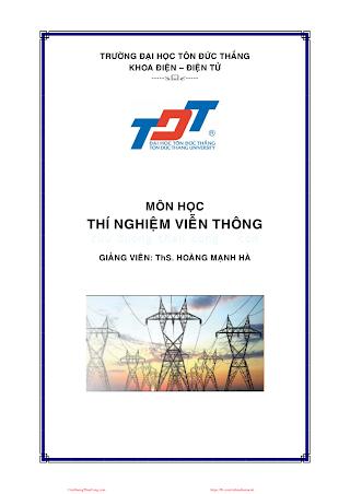 ĐTĐT.Tài Liệu Hướng Dẫn Thí Nghiệm Viễn Thông - Ths. Hoàng Mạnh Hà, 125 Trang.pdf