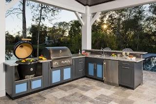 L Shaped Outdoor Kitchen Design Inspiration Danver