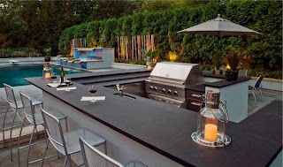 Outdoor Kitchen Designs with Pool 31 Amazing Ideas