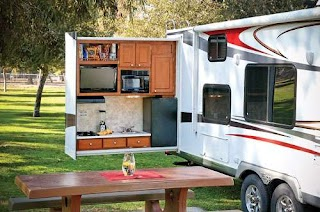 Travel Trailer with Outdoor Kitchen Take It Outside an Life