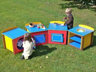 Outdoor Play Kitchen Sets Childrens Single Units Complete Set of 4
