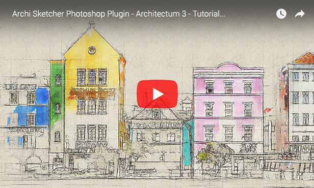 Architecture Sketch - Architectum 3 - Photoshop Plugin - 2