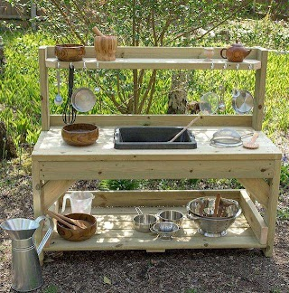 Kids Outdoor Kitchen Pallet Mud Reclaimed Valuebuyonline