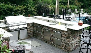 L Shaped Outdoor Kitchen Dimensions Dimensions