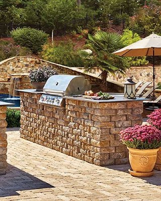 Pavestone Outdoor Kitchen Stones Pavers for Projects Extreme How To