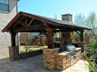 Outdoor Kitchen Roof Ideas Covered Design Large