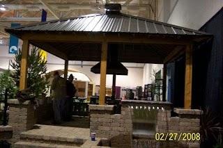 Outdoor Kitchen Roofs Tin Metal Roof Pavilon Pergola Over