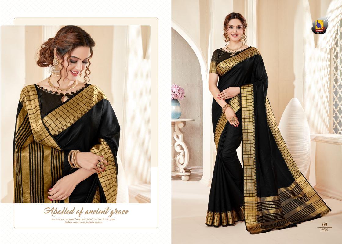 Black Colour Cotton Silk Saree