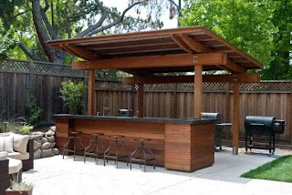 Covered Outdoor Kitchen 20 Creative Patio Bar Ideas You Must Try at Your Backyard