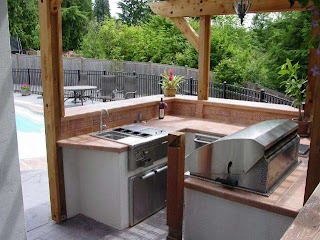 Easy Outdoor Kitchen Ideas Two Build an on Patiodeck Modern S