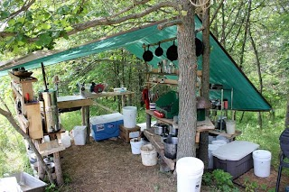 Outdoor Kitchen Camping Setting up An