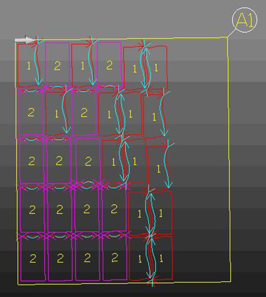 В ALPHACAM присутствуют новые алгоритмы раскладки (Nesting)