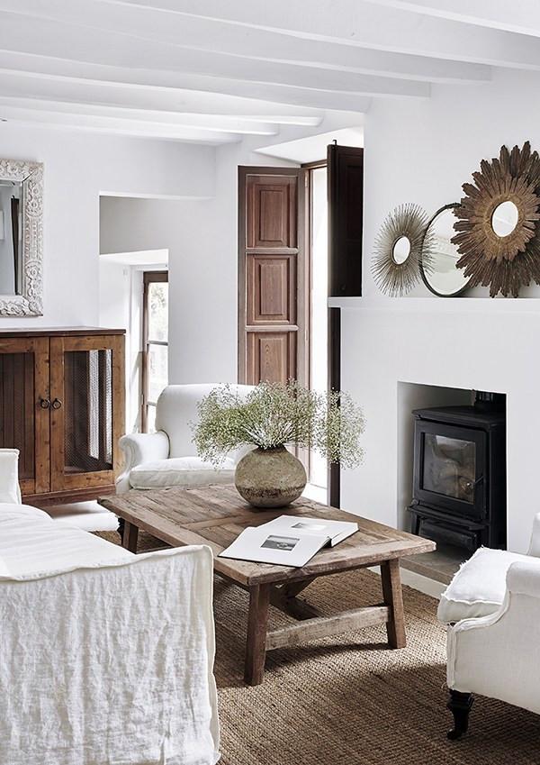 Estilos de decoración de interiores:  estilo rústico moderno