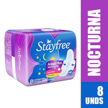 Toalla Higiénica Stayfree Nocturna x 8 Und