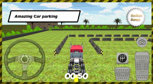 3D Western Truck Parking