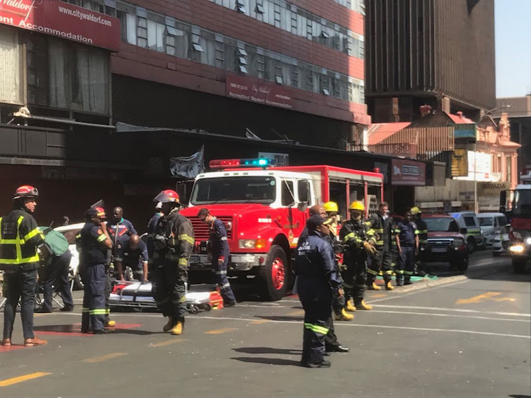 Three firefighters were confirmed dead after a building in the Johannesburg city centre caught fire.