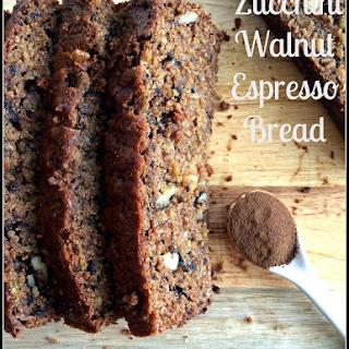 Zucchini Walnut Espresso Bread