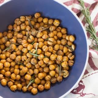 Rosemary Garlic Roasted Chickpeas.