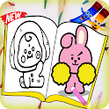 How to draw BT21 Coloring icon