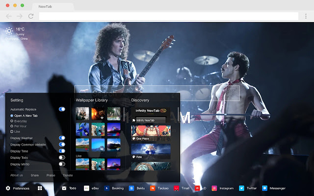 Bohemian Rhapsody New Tab HD  Movies Theme