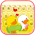 Lovely Duck Couple Keyboard Theme icon