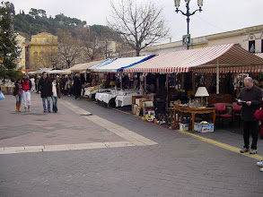 Photo: The Cours Saleya, a market street considered the center of the old city. Uniquely on Monday, it is home to an antique and flea market.