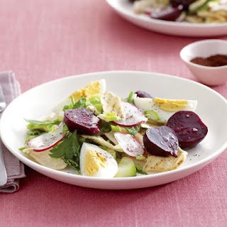 Beet and Egg Fattoush Salad