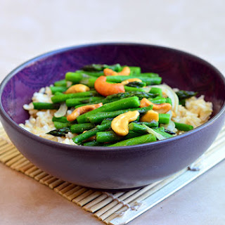 Asparagus and Cashew Stir-fry.