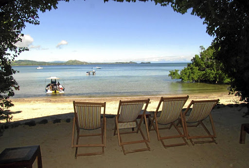 Touching distance: At Sakatia Lodge, the warm, placid sea is only 25m away at high tide. Picture: SUPPLIED