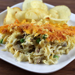 Tuna Casserole With Cream Of Mushroom Soup And Potato Chips Recipes.