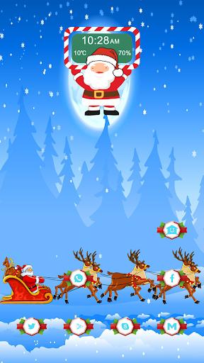 Santa Claus on the lake