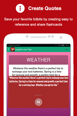 Cupid's Love Tips- screenshot