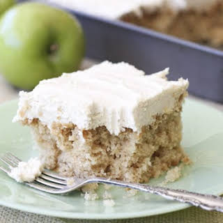 Easy Apple Cake with Brown Sugar Icing.