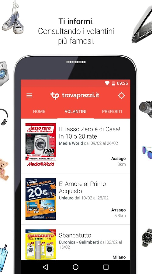 Trovaprezzi Shopping Volantini- screenshot
