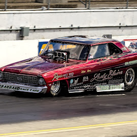 Lady Elaine Funny Car by Mike Lepkowicz - Sports & Fitness Motorsports ( spokane county raceway, mmlracingphotography, vintage funny car, drag racing, lady elaine )