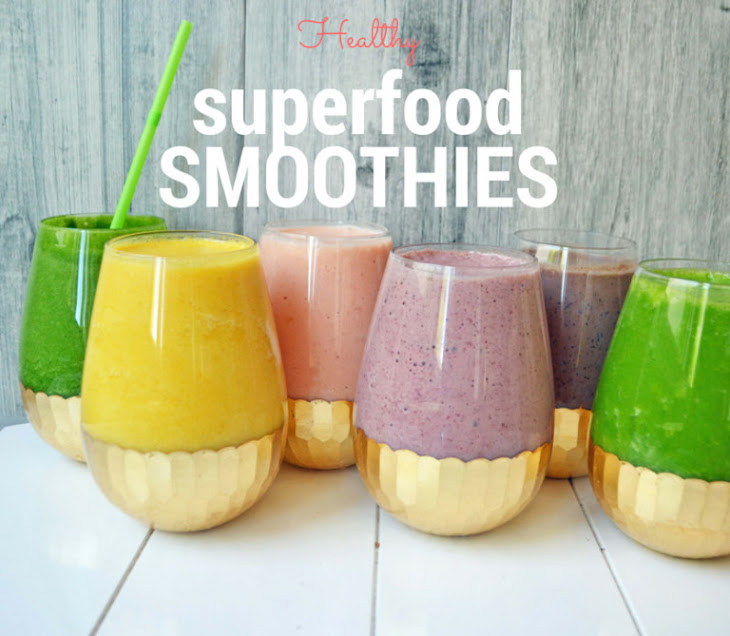 6 Healthy Superfood Smoothies Recipe