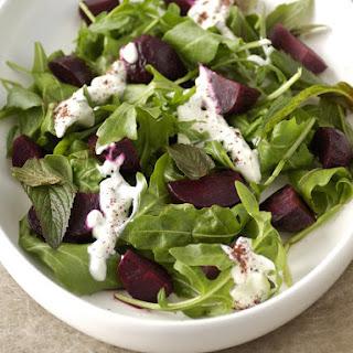 Roasted Beet and Arugula Salad.