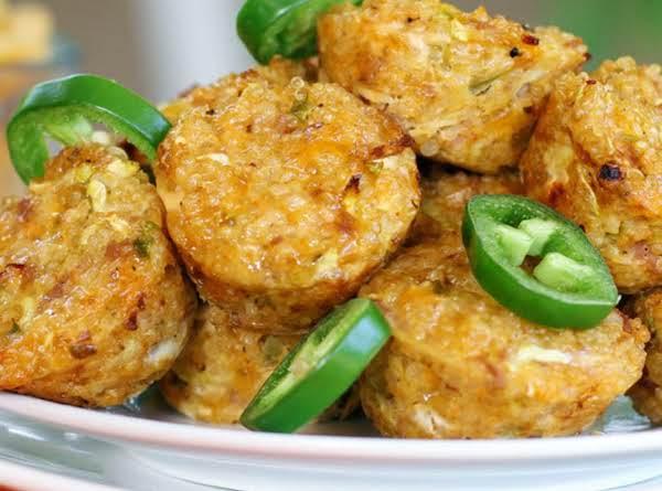 Southwestern Ham And Cheese Quinoa Bites Recipe