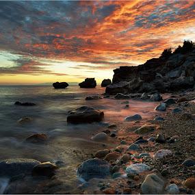 Pebbles by Fokion Zissiadis - Landscapes Beaches ( , golden hour, sunset, sunrise )