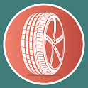 Tyres and car parts icon