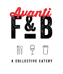 Logo for Avanti F&B, a collective eatery