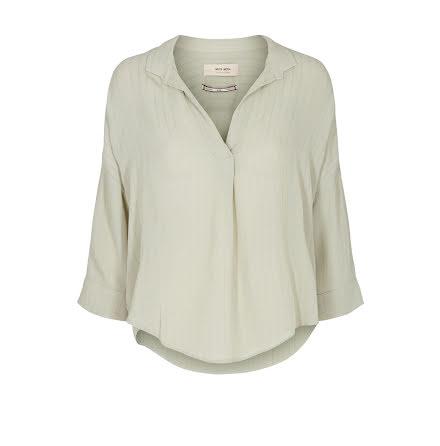 Mos Mosh Nava stitch blouse green sage