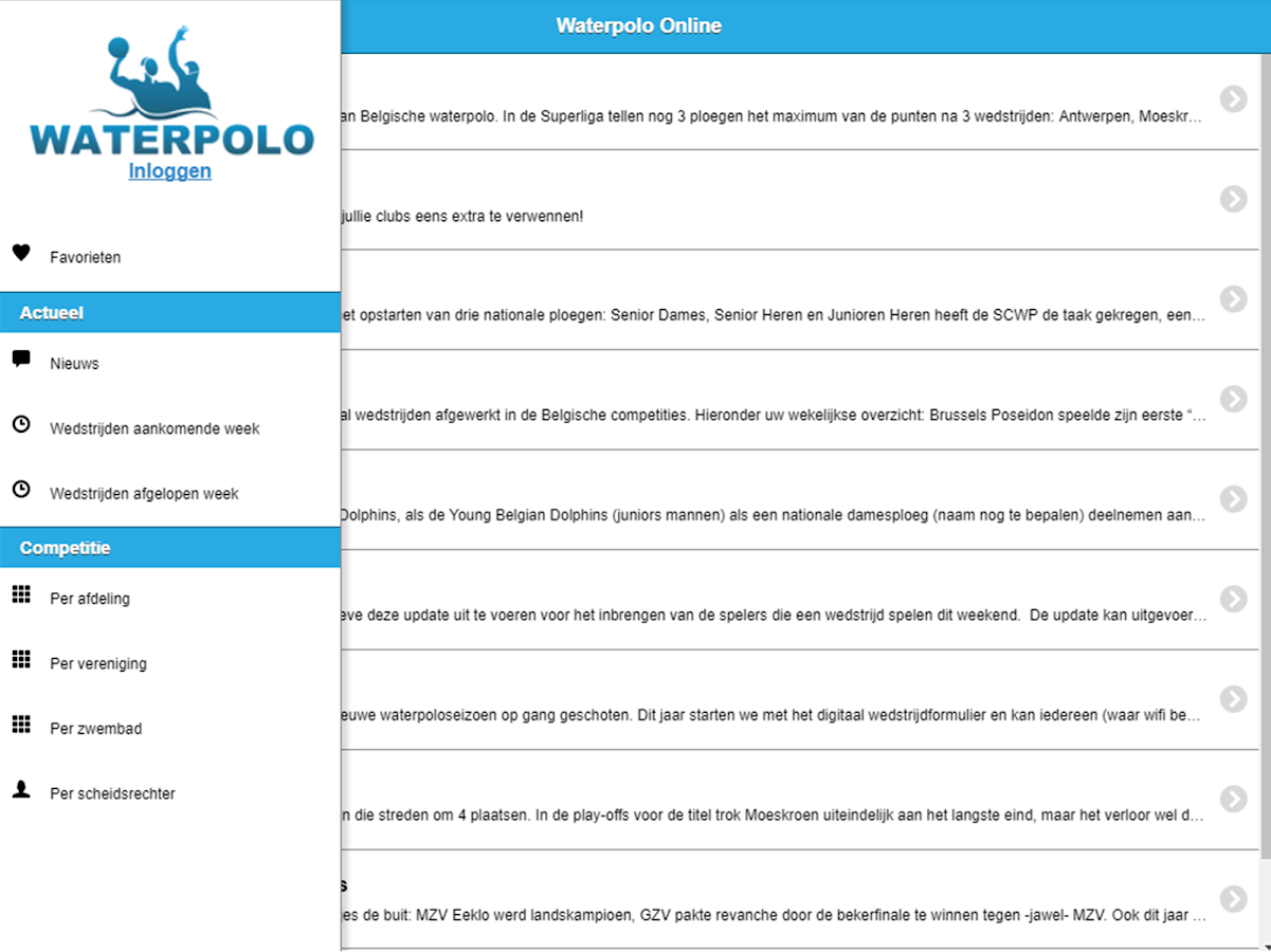Waterpolo Online- screenshot