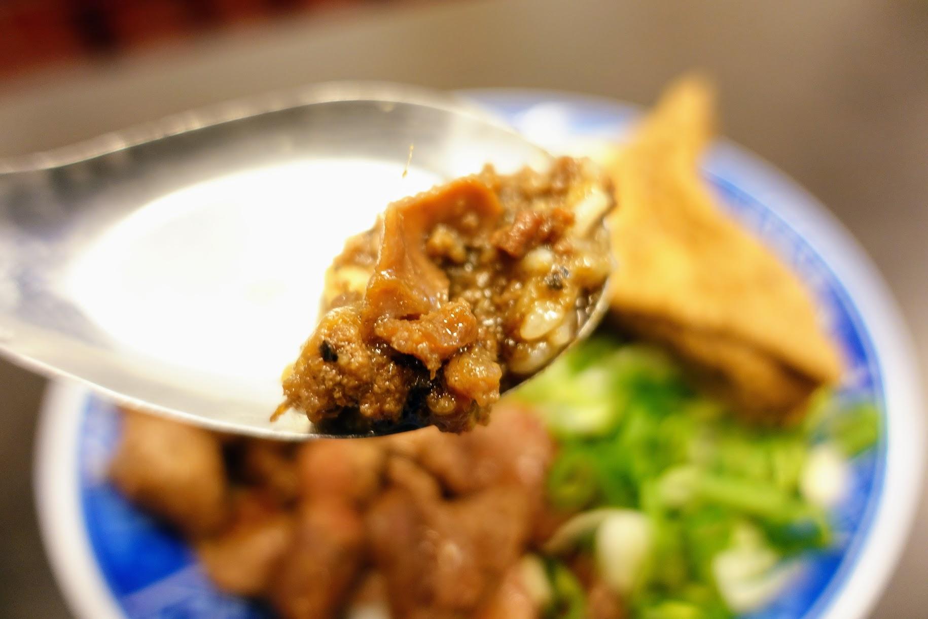 牛肉燥部分,帶著一點鹹鹹口感