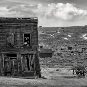 Bodie  by Michael Keel - Black & White Buildings & Architecture ( desert, sierras, ghost town, bodie )
