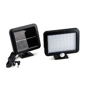Reflector cu panou solar si senzor de miscare