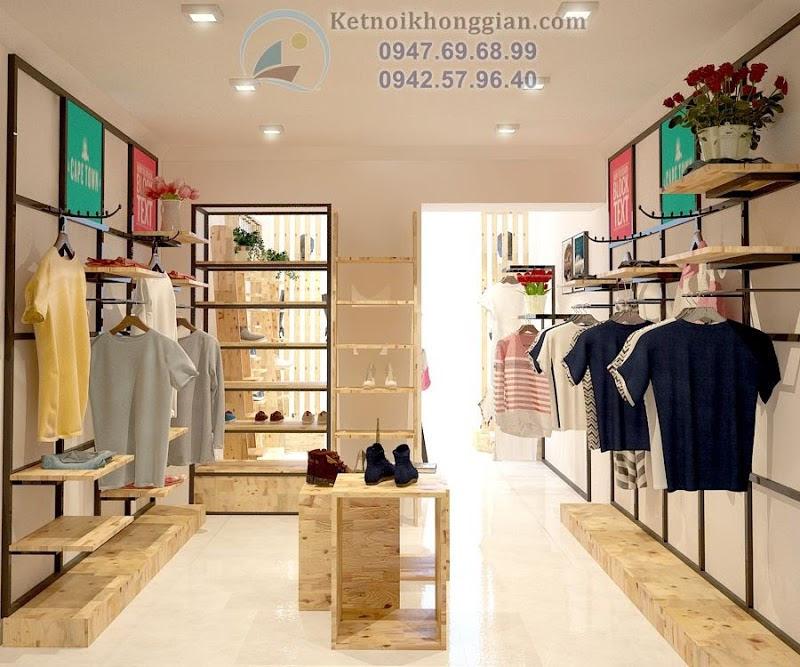 thiết kế cửa hàng thời trang khéo léo