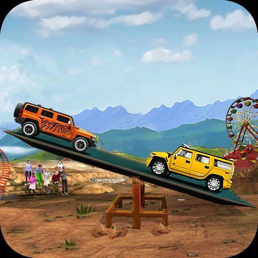 Seesaw Car Stunts Racing Games