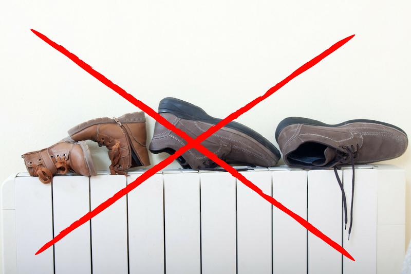 Je natte schoenen of laarzen drogen?