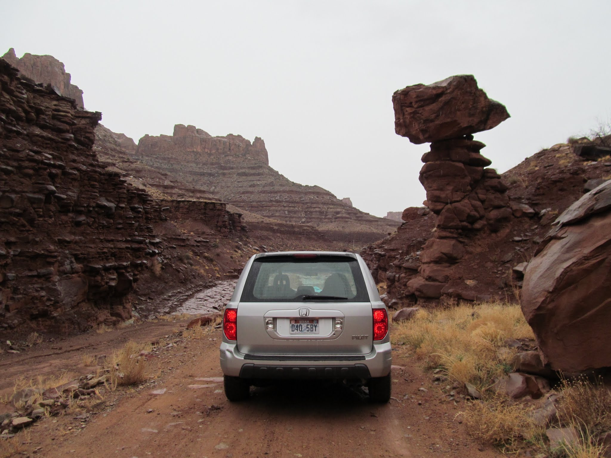Photo: Beginning the drive up Long Canyon
